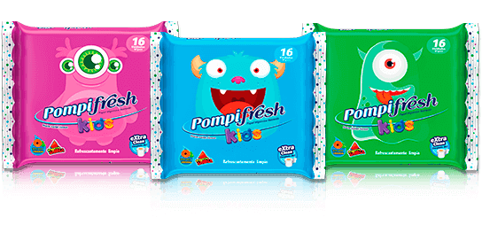 Papel higiénico húmedo - Pompifresh Kids